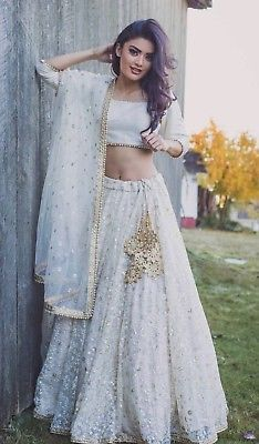 buy popular autumn shoes good texture white net thread sequins embroidery indian wedding wear ...