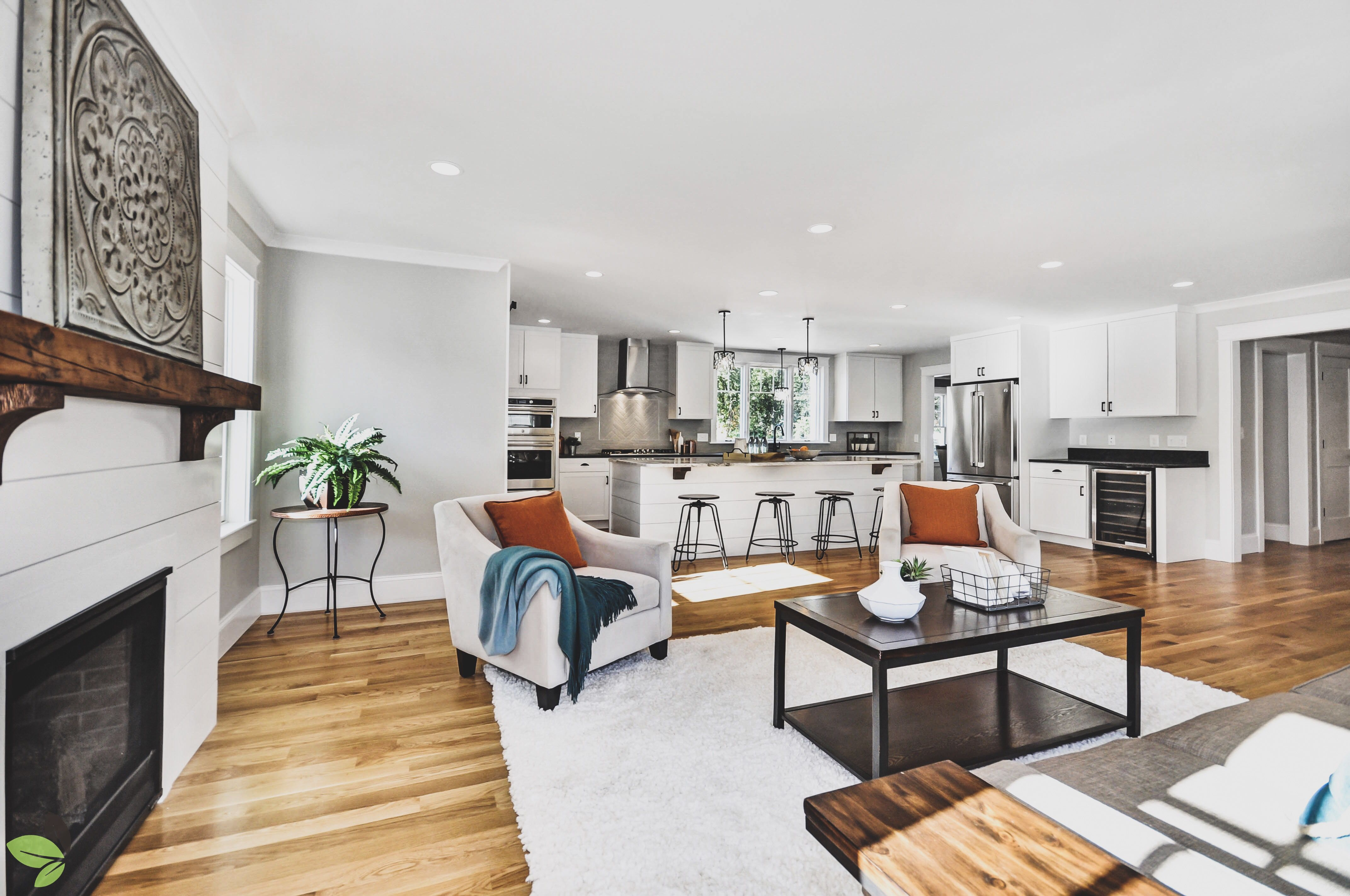 Bright and beautiful open concept living room / kitchen at our build ...