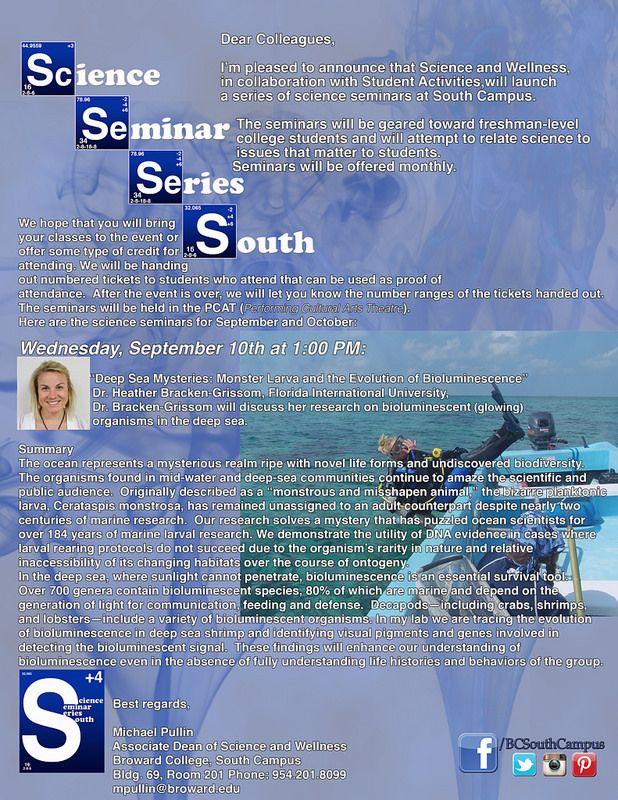 S4flyerfirstseminar Student Activities Florida International University Science