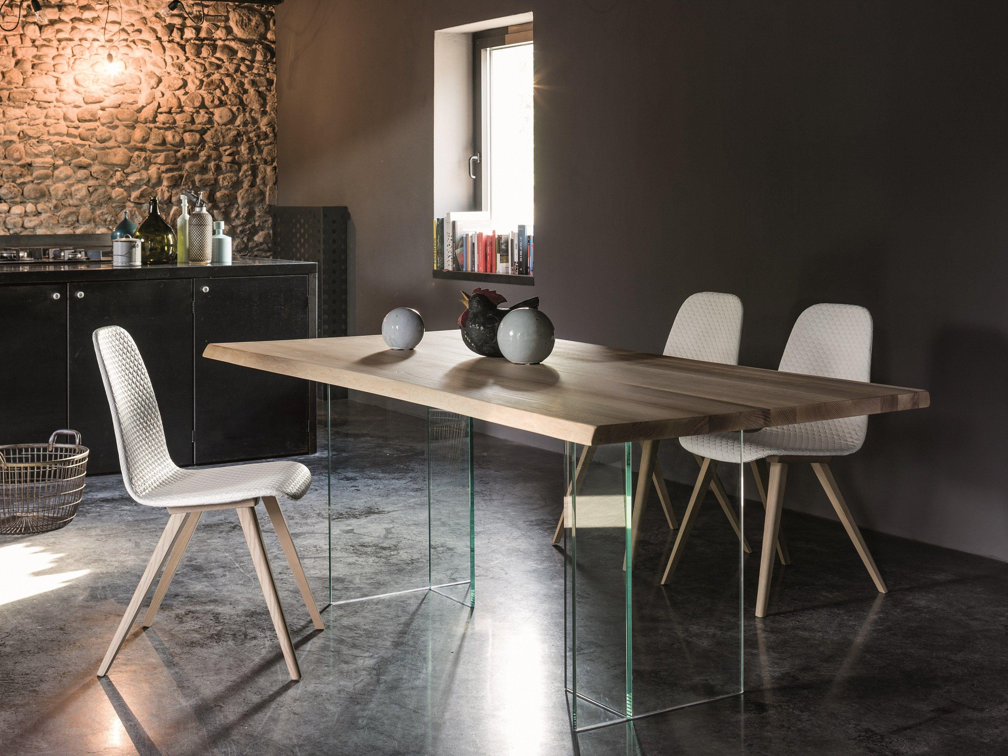 Tavolo rettangolare in legno e vetro BASILIO by Dall\'Agnese | Casa ...