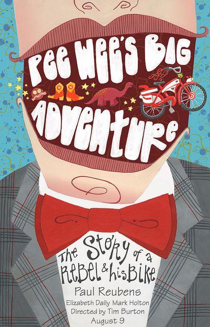 TB270. Pee-wee's Big Adventure / Alternative Movie Poster (4) (1985) / #Movieposter / #Timburton