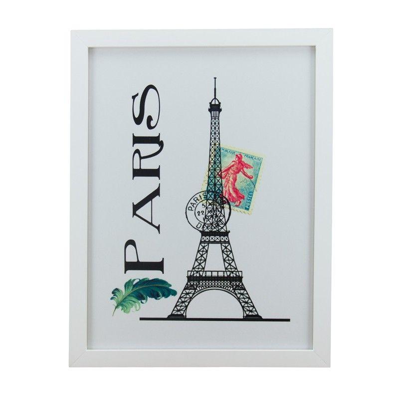 Quadro Torre Eiffel Selo Paris BR - Col. Exclusiva