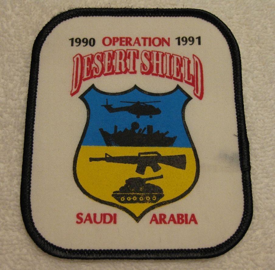 RARE OPERATION DESERT SHIELD SAUDI ARABIA 1990-91 PATCH Desert Storm Iraq FDNY in Collectables, Militaria, Gulf War (1990-1991)   eBay