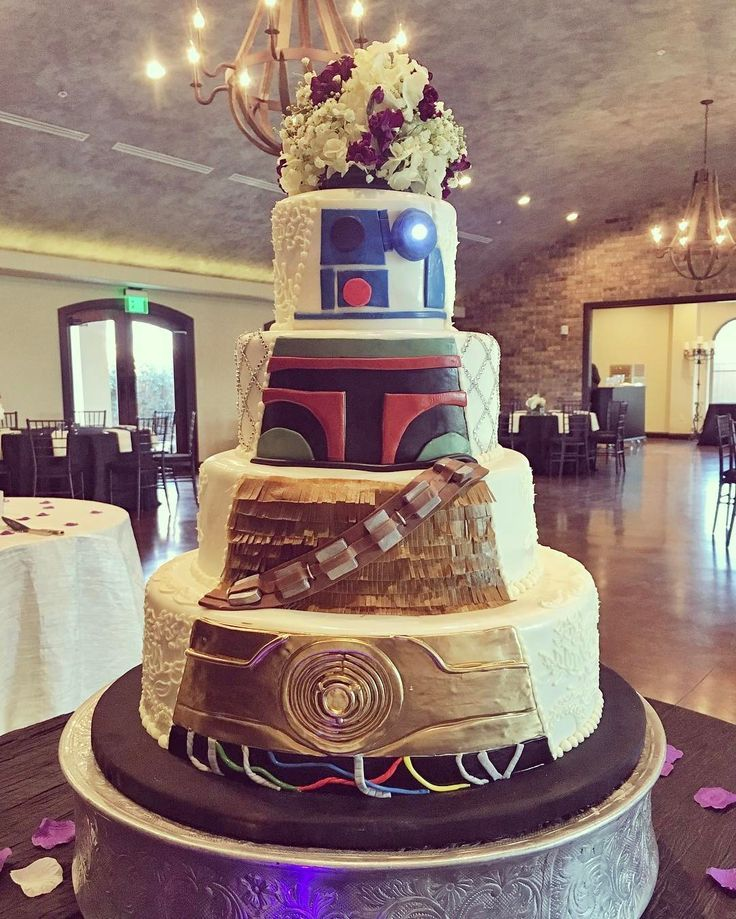 Double Sided Wedding Cake By Frosted Art Bakery. Star Wars