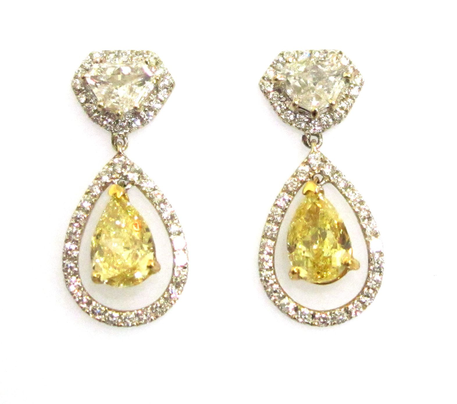Yellow Diamond Drop Earrings To Match My Engagement Ring Lol