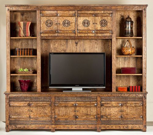 Tecolote Entertainment Center Southwest Furniture Santa Fe Style Spanish Craftsmen