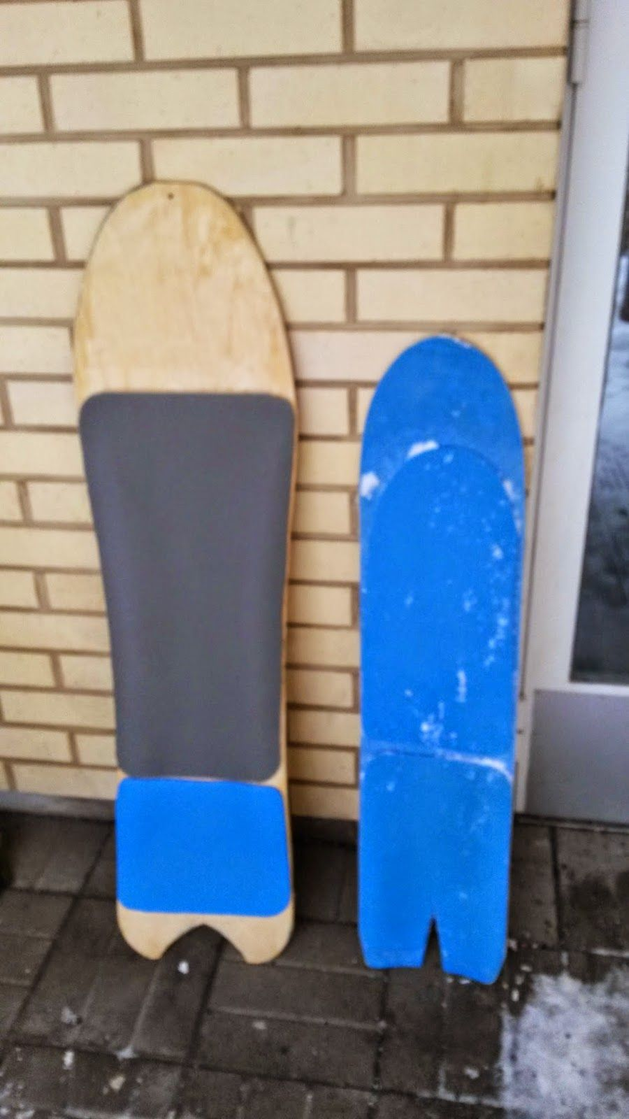 Powsurf and DIY, building your own powsurfer / noboard and