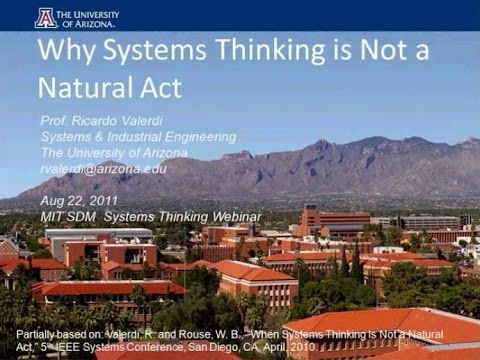 Why Systems Thinking is Not a Natural Act - YouTube