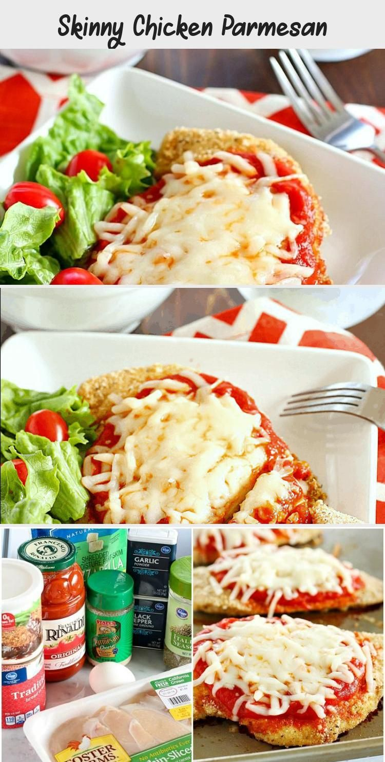 Skinny Chicken Parmesan - Recipes For Kids #chickenparmesan