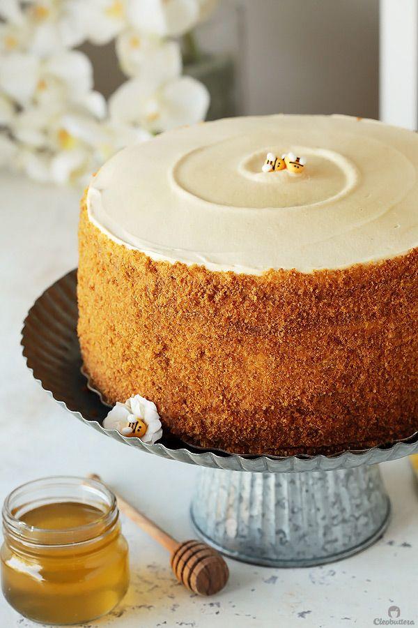 The Most Amazing Russian Honey Cake Recipe Russian Honey Cake Desserts Cake Recipes