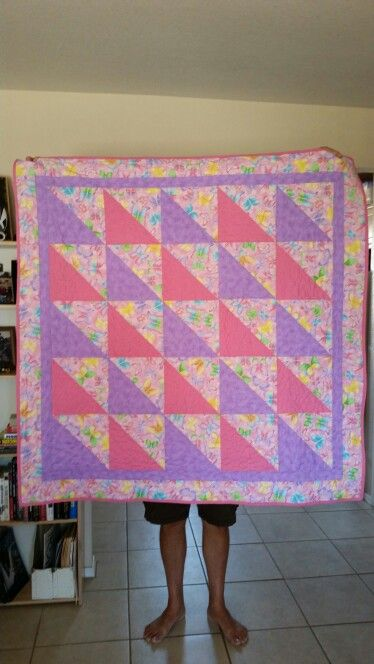 Roxanne's baby quilt by Sheryl with Tommy's feet
