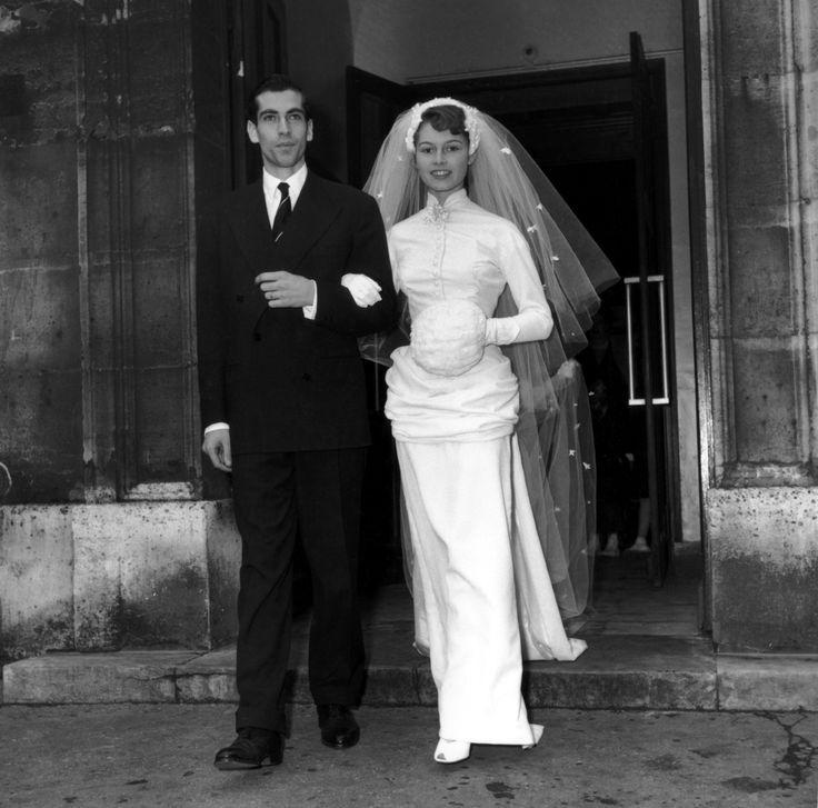 Brigitte Bardot with her first husband Roger Vadim