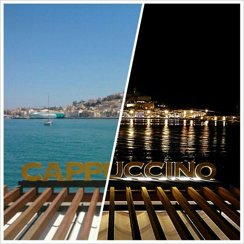 Cappuccino gran cafe ubicado en la marina ibiza en el puerto deportivo de ibiza islas balearea - Restaurantes en el puerto de ibiza ...