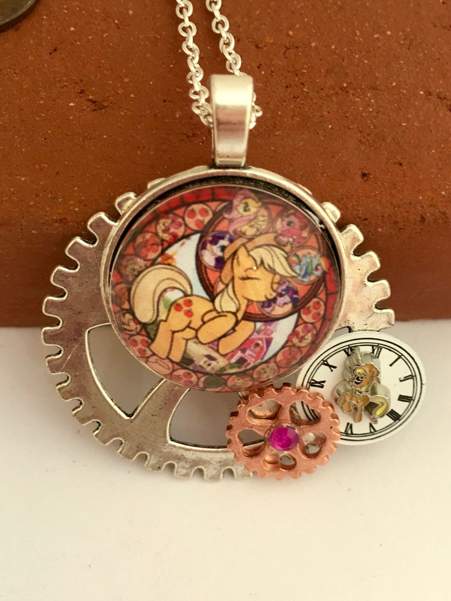 My little pony brony inspired pendants pony pendants and mlp my little pony inspired steampunk pendants for the kid in you or the brony in mozeypictures Images