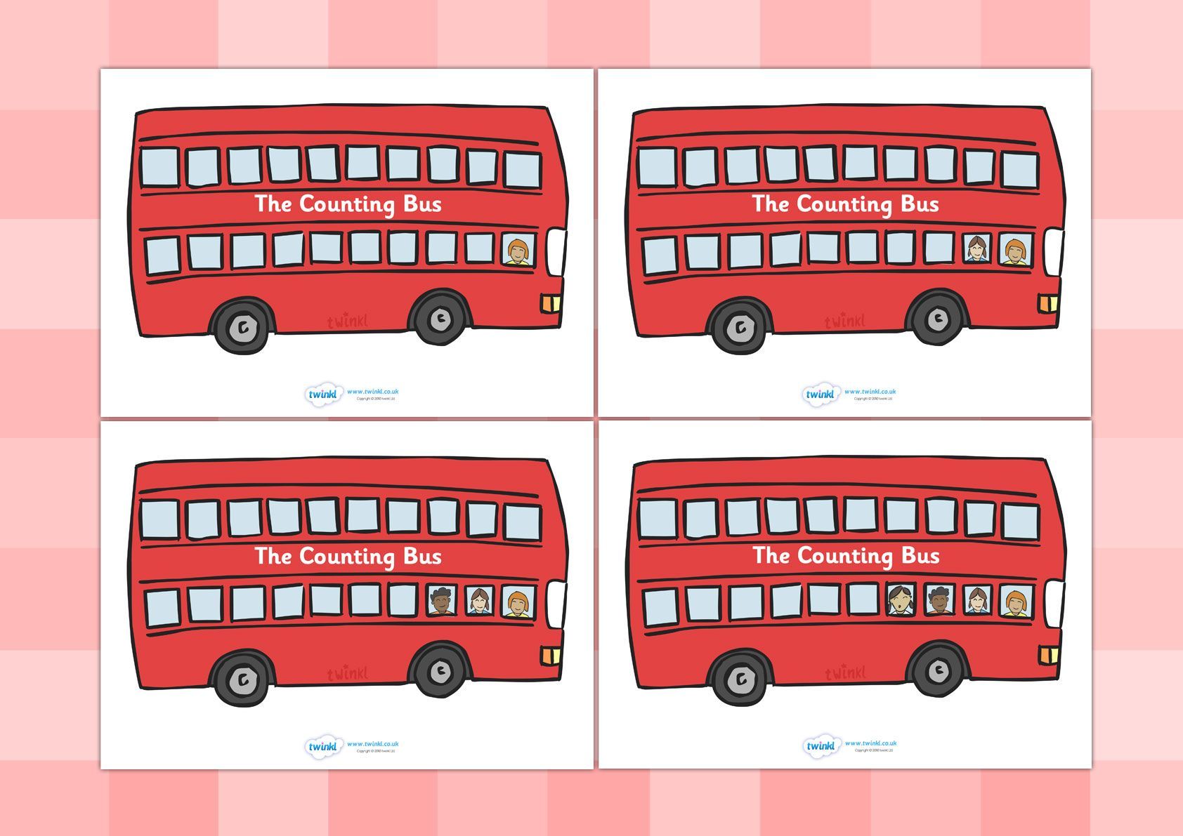 Twinkl Resources Gt Gt Bus Counting Activity Gt Gt Classroom Printables For Pre School Kindergarten