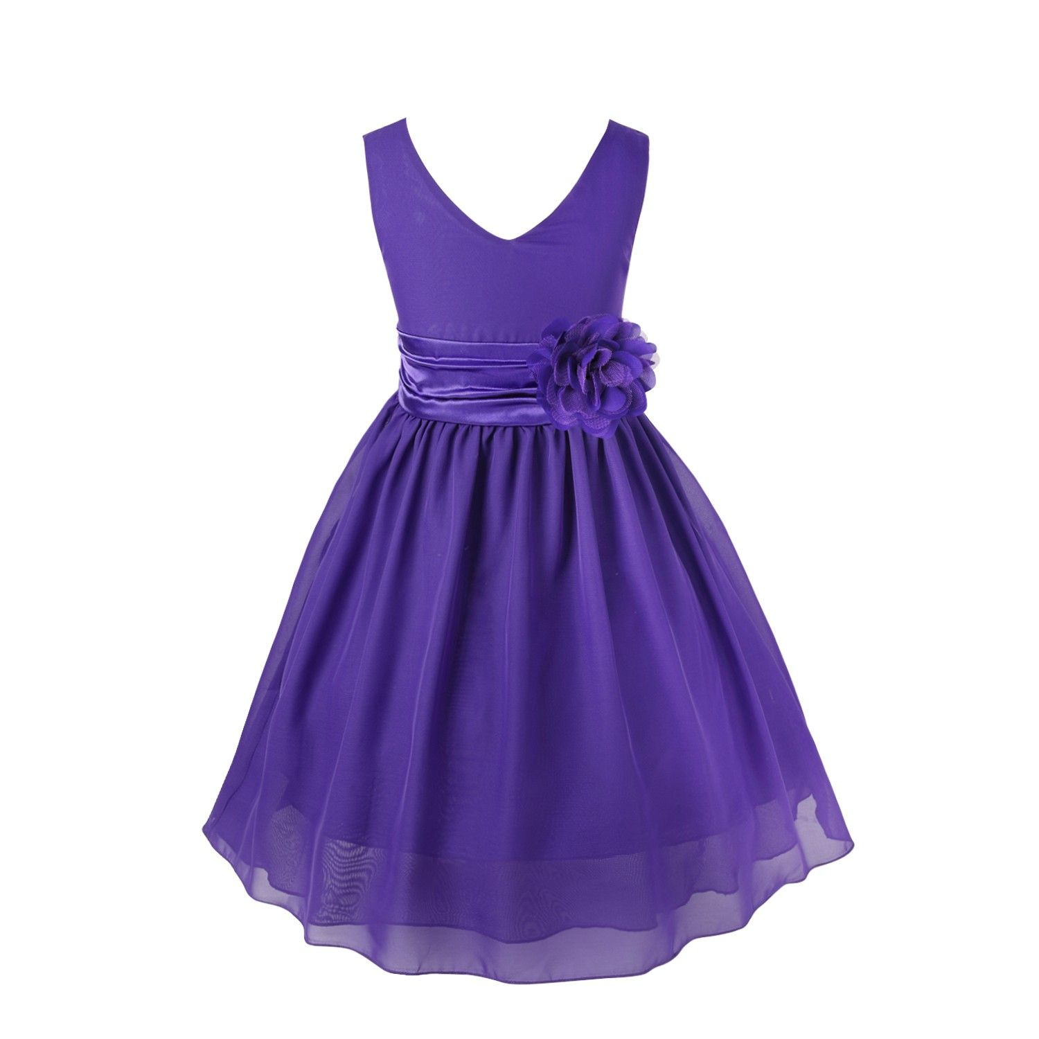 Purple Kids Bridesmaid Dresses | Baby Girls Flower Dress | Pinterest ...