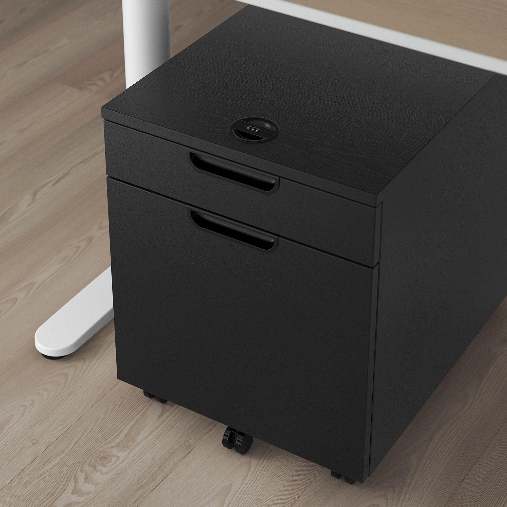 Galant Drawer Unit Drop File Storage Black Stained Ash Veneer 17 3 4x21 5 8 Ikea In 2020 Drawer Unit Storage Ikea Galant