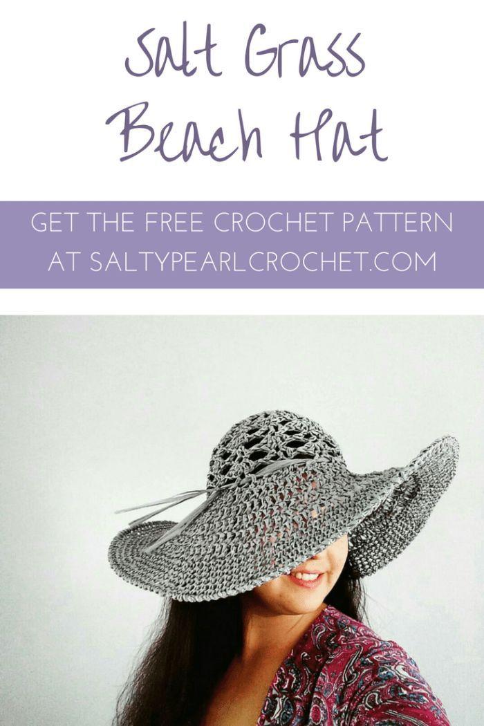 Crochet Beach Hat Free Pattern - the Salt Grass Hat | Crochet ...