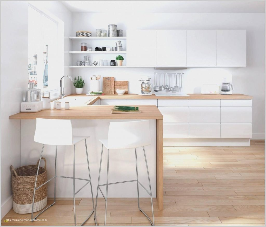 Meilleur Cuisine 9m2 Avec Ilot Dom In 2020 White Kitchen Design Loft Kitchen Modern Kitchen