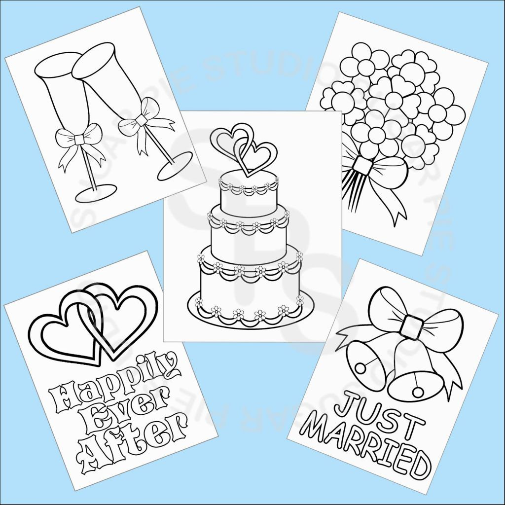 Wedding coloring book activities - Printable Wedding Coloring Pages Coloring Pages Pinterest