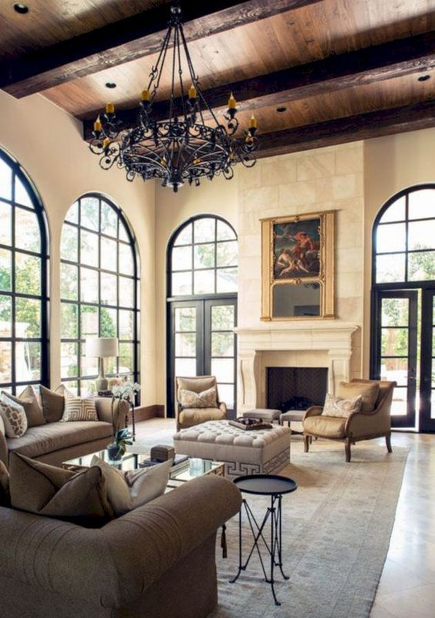 50+ Mediterranean Living Room Decor Interior Design_30 Awesome