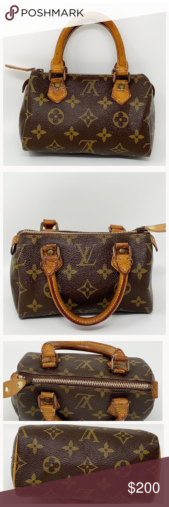 c774579e5dc9 Authentic Louis Vuitton Speedy Mini Satchel 100% Authenticity Guaranteed  Made in France Date code