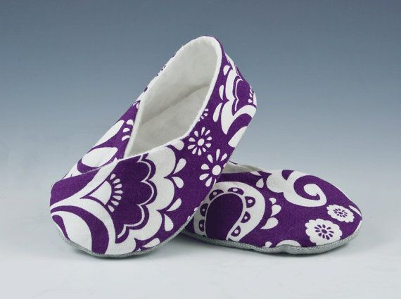 Kimono Baby Shoes - Purple Paisley (3-6 Months) on Etsy, $22.00