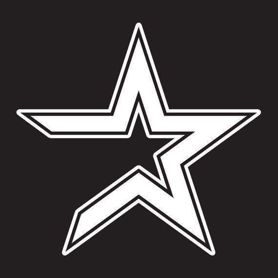 Astros Star >> Houston Astros Vinyl Logo White Red Pink Black Silver Or