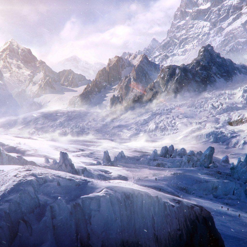 Mountain Top Wallpaper Snowy Mountain Top Hd Ipad Wallpaper