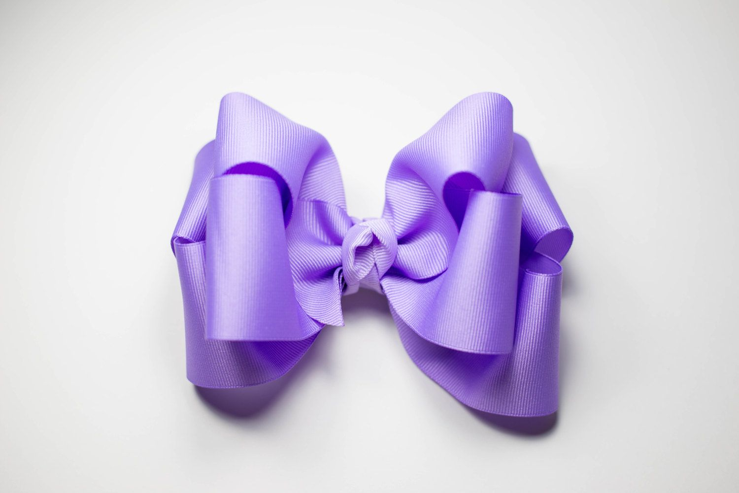 Double Stack Hair Bow- Purple 6 Inch Hair Bow- Large Girls Hair Bow- Boutique Hair Bows- Purple Bow For Toddler- Spring Hair Bow For Girls by NanabellesPretties on Etsy