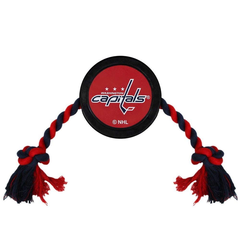 Washington Capitals NHL Pets First Pet Hockey Puck Dog Rope Toy  PetsFirst c249617f5