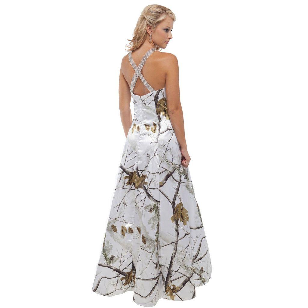 Wedding dresses camo  Realtree Camo Rhinestone Cross Strap Dress  Marriage  Pinterest