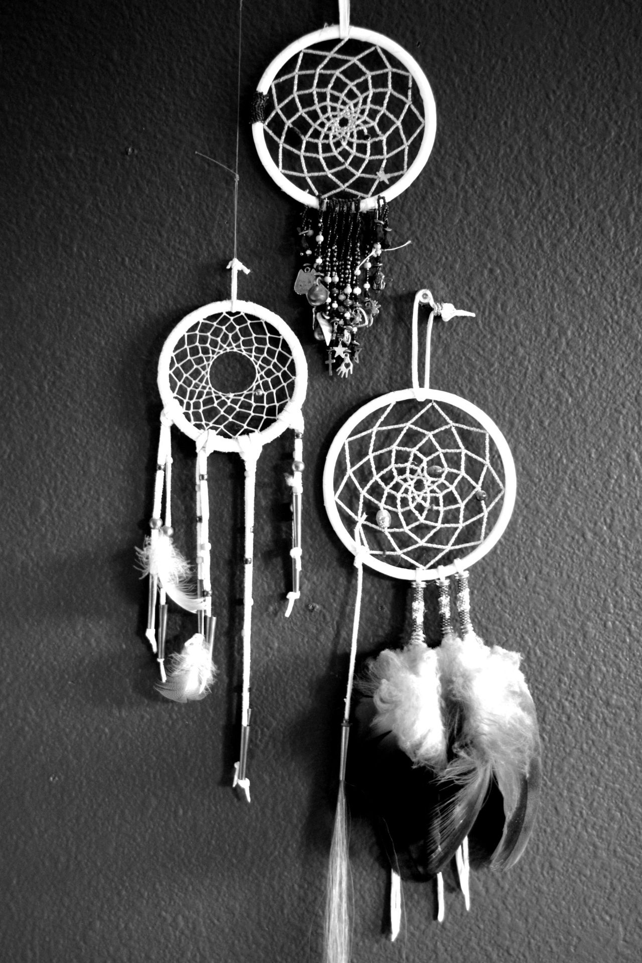 dream catchers; buttons, beads, felt feathers, tiny shoes, basket ball and hoop, Xbox stuff, cool cars, hello kitty, puzzle pieces ...