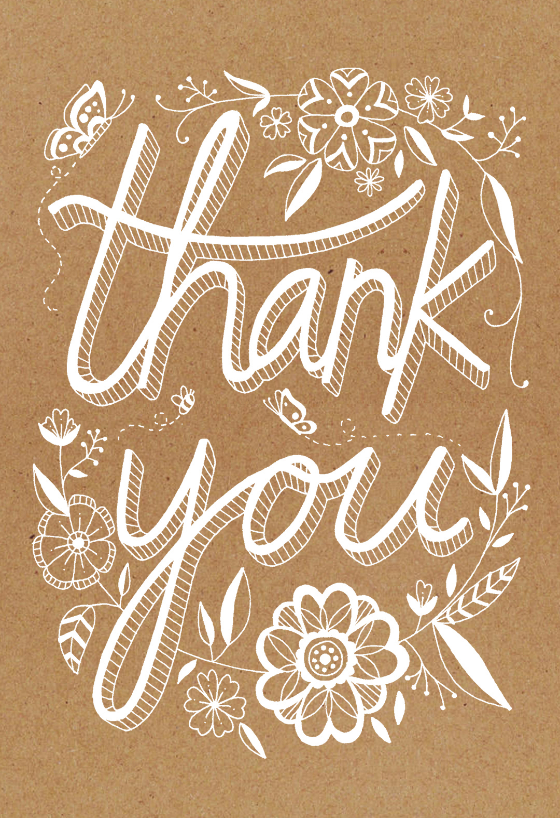 Rustic Thank You Card You Can Print Or Send Online Personalize