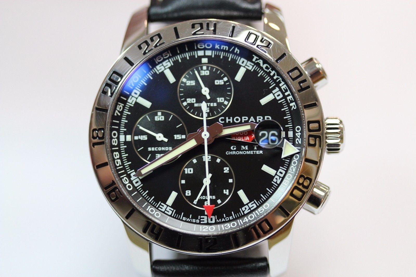 23e220223d7f0 Chopard Mille Miglia GMT Chronograph ref. 168992-3001 8992 Black Dial