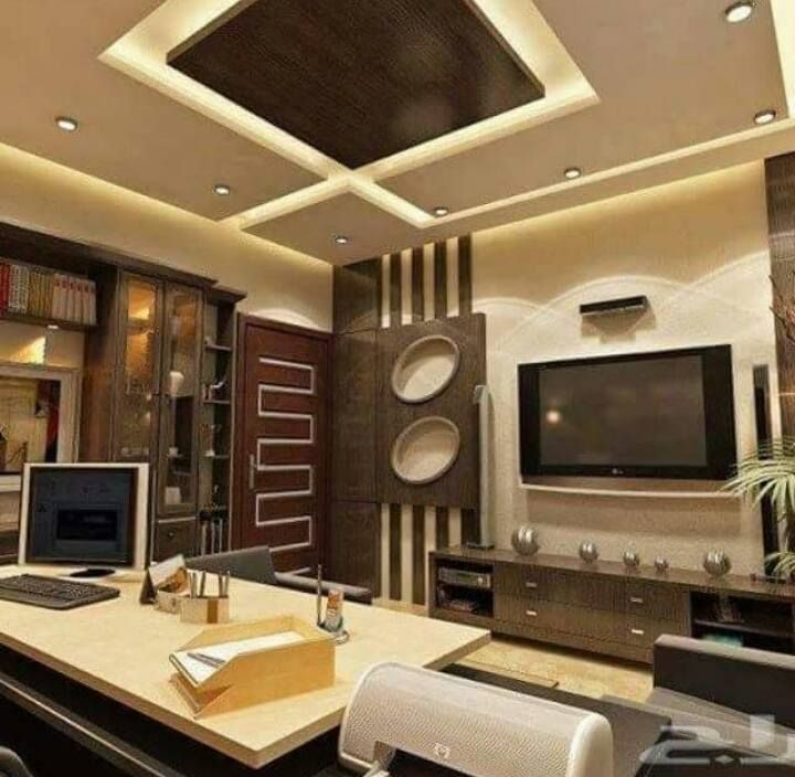 Modern Gypsum Ceiling: Handmade Gypsum Board Tv Units Before And After