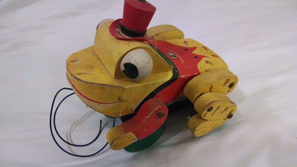 Fisher Price Buddy Bullfrog Vintage Childrens pull Toy 1959-1960 ...
