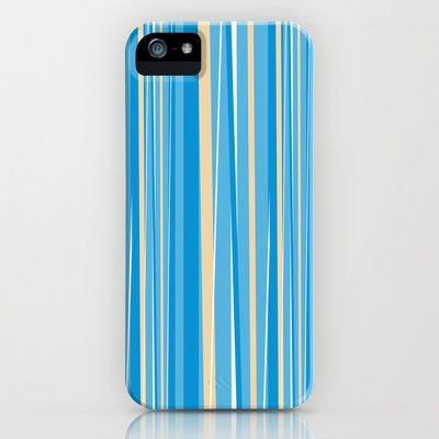 Fresh Blue Stripe iPhone & iPod Case by markmurphycreative on Wanelo