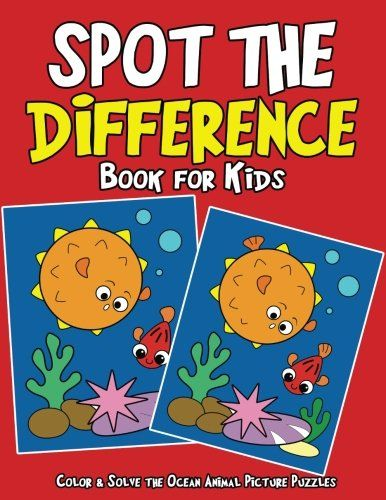 Spot The Difference Book For Kids Color Solve Ocean Animal Picture Puzzles
