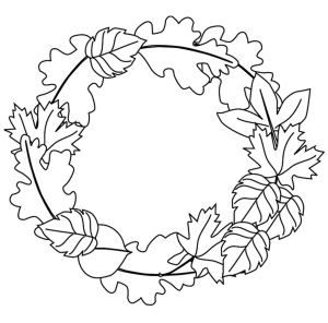 easy preschool fall leaves coloring pages | fall templet | Pinterest ...