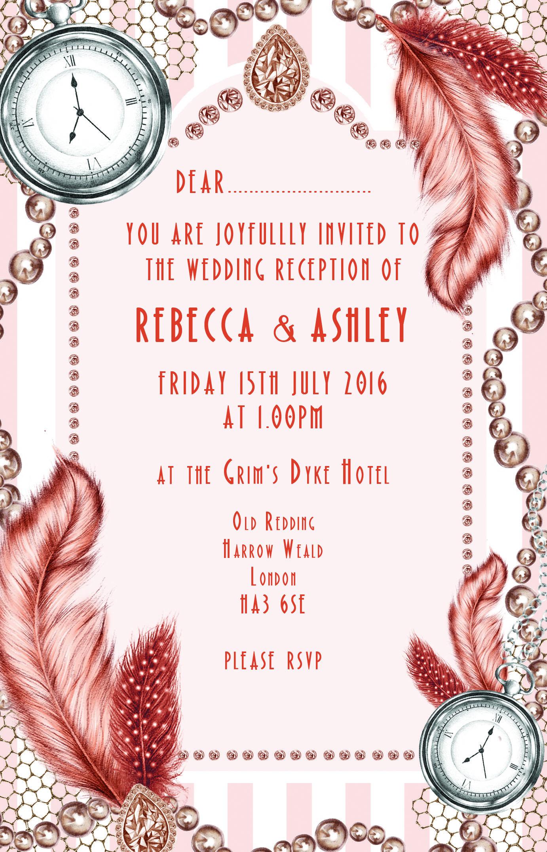 1920s wedding invitations pinterest
