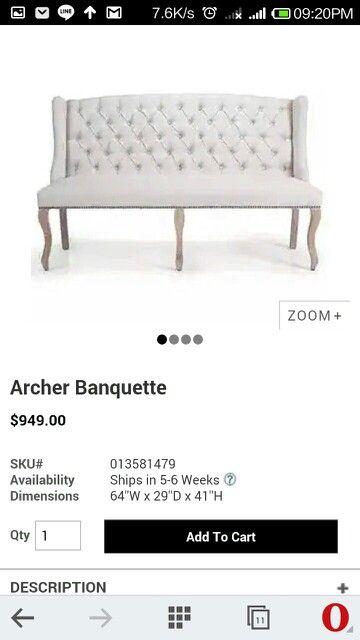 Bedroom banquette
