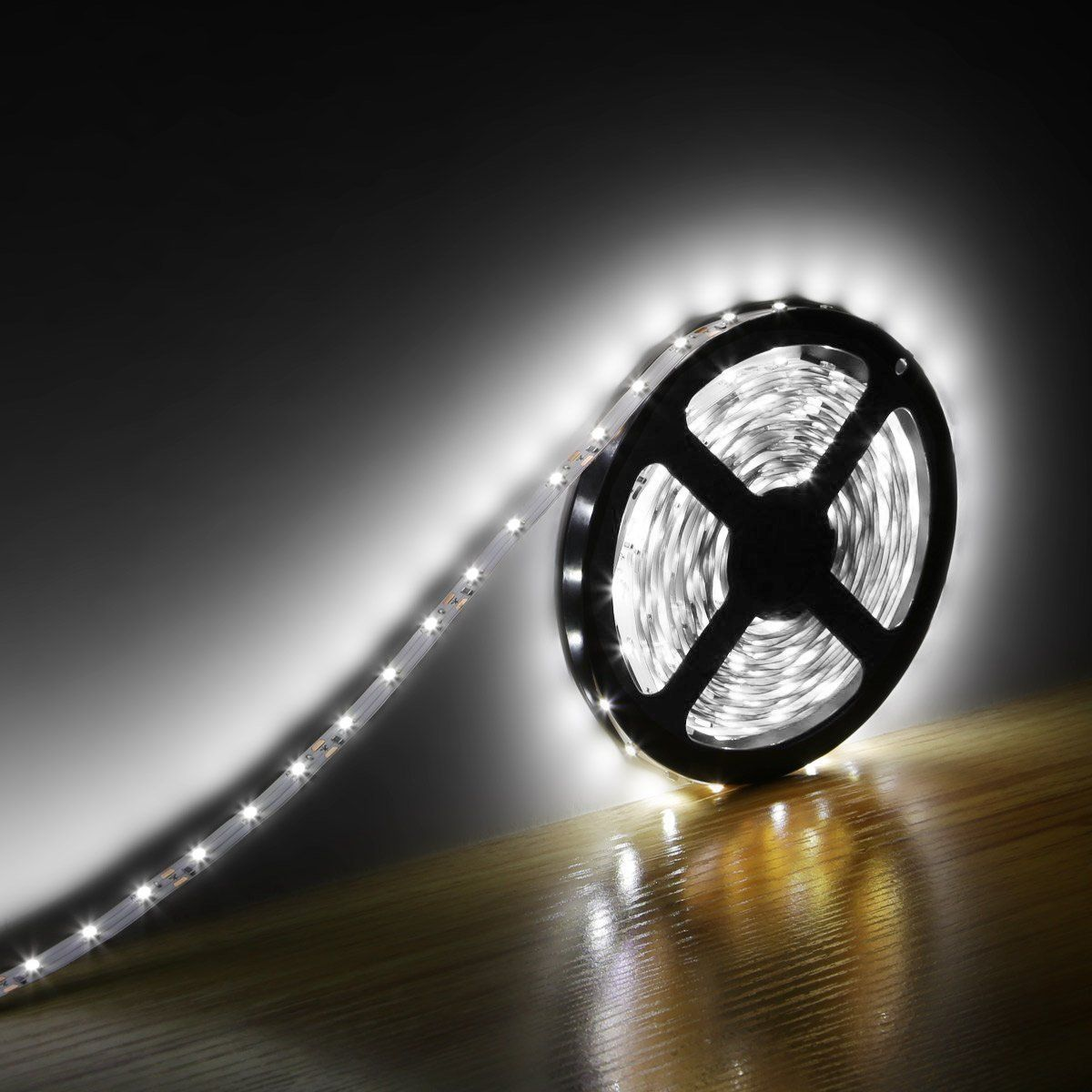 12V Waterproof Led Light Strips Entrancing Le 164Ft 12V Flexible Led Light Strip Led Tape 6000K Daylight White Inspiration Design