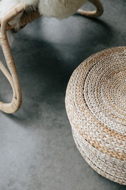 woven furnishings at parachute home. / sfgirlbybay