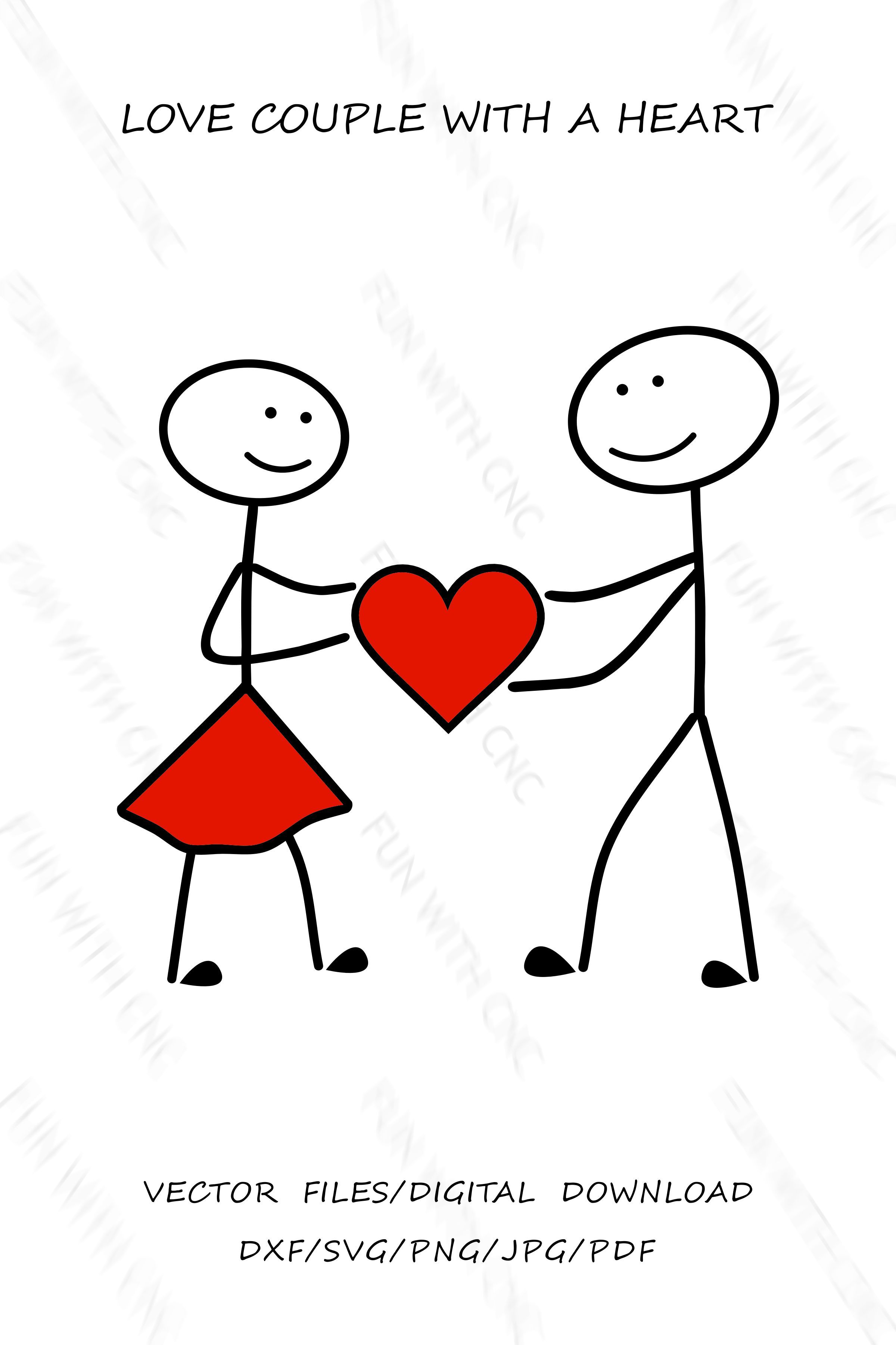 Stickman In Love Stick Figures Couple Svg Png Jpg Pdf Etsy In 2021 Stick Figures Dxf Svg [ 3600 x 2400 Pixel ]
