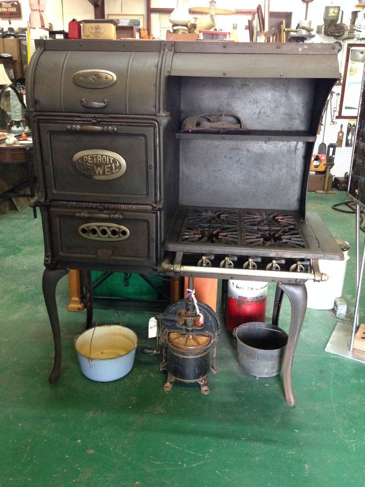 Antique Detroit Stove Works Jewel Cast Gas Cook Stove