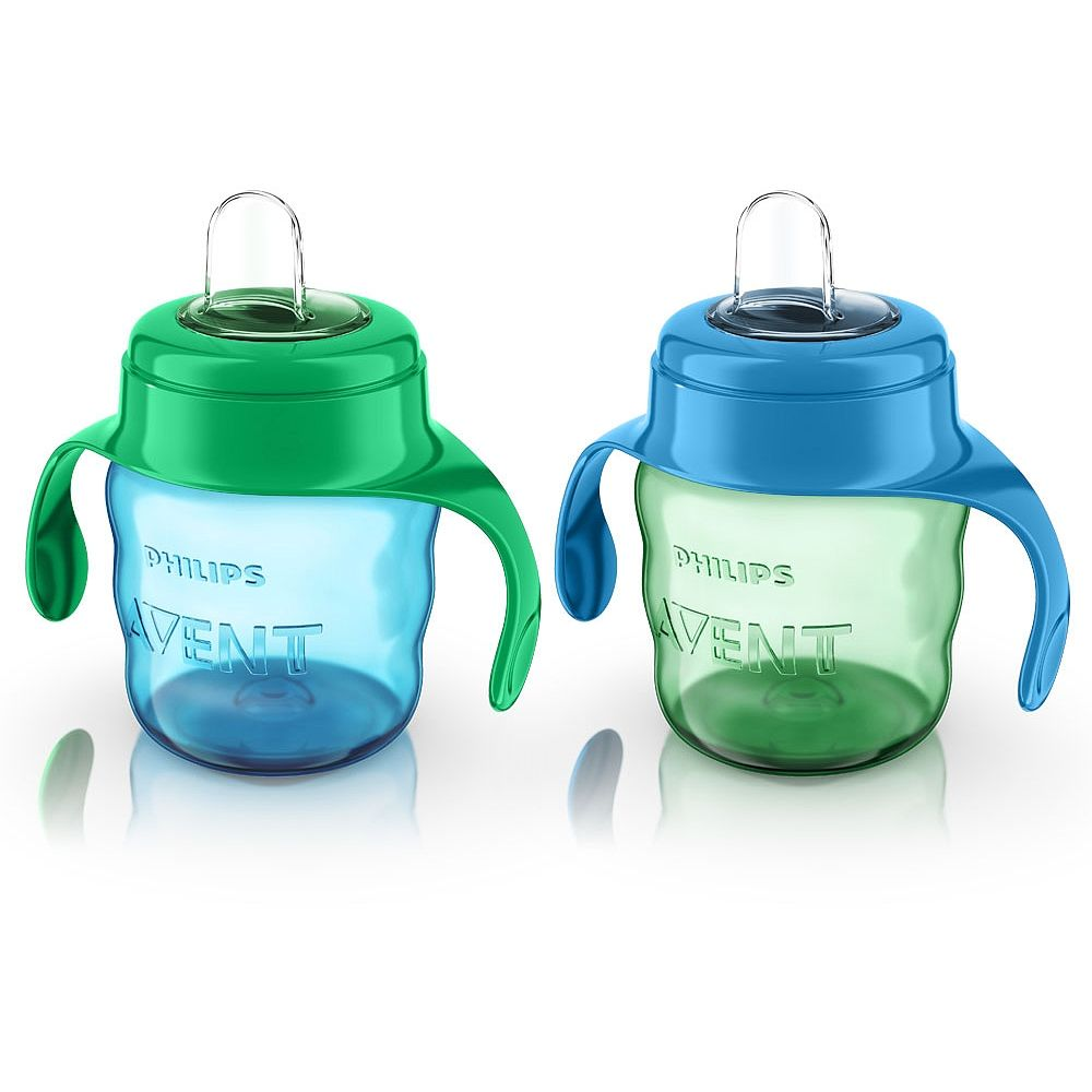 Philips Avent My Easy Sippy Cup 7 Oz 2 Pack Green Blue Sippy Cup Philips Avent Baby Bottles