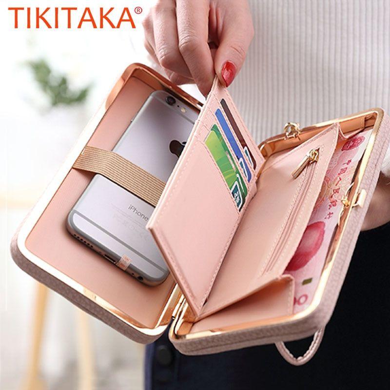 Femmes mignon cuir Portefeuille long Téléphone Porte-carte Case Sac à main d/'embrayage sac à main