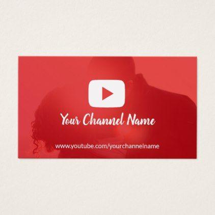Youtube Channel Custom Photo Youtuber Business Card Zazzle Com