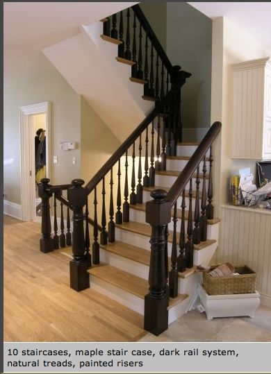 Best Two Tone Stairs Stairs Pinterest Banisters Basement 400 x 300